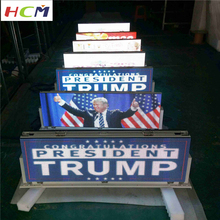 Outdoor waterproof led display screen taxi top advertising P5mm high resolution