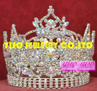 hair jewelry custom made beautiful beauty queen big pageant crowns for sale