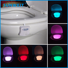 baby toilet night light with motion sensor and 8 color changing fits for any toilet