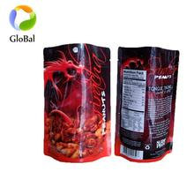 eco friendly packaging laminated plastic Cooked Food packaging doypack bag with zipper