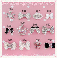 Charming Jewelry Dragonfly Butterfly Bow Nail Art Accessories For Nail Shop