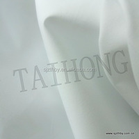 white 65% polyester 35% cotton poplin inner lining fabric