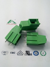 PCB screw terminal block 10.16mm pin header perpendicular high current