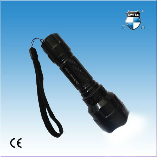 Green led rechargeable flashlight 220v
