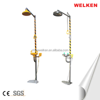 Manufacturer Wholesale Foot Control Stainless Steel Satety Combination Eye wash and Shower equipment eyewash station