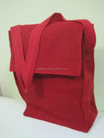 Jute red color bag with red color
