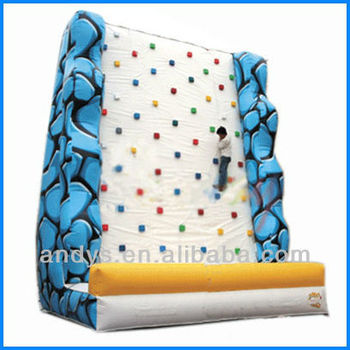 2016 hot sale inflatable climbing wall