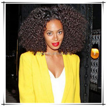 afro kinky curly human virgin hair full lace wig short human hair wig for black women