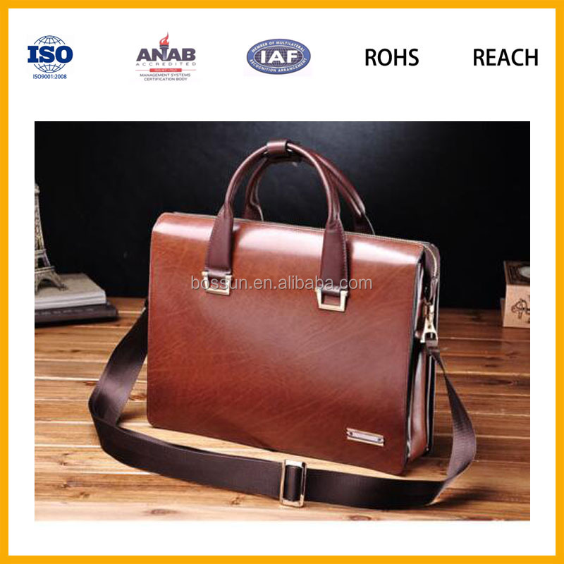 Chinese Supplier High End Men Handbag Tote Bag Shoulder Bag Portable Briefcase