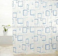 100% polyester shower curtain and bathroom accessaries--MZ-SC40011