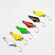 Free Sample Colorful Copper Fishing 3g Trout Spoon Lures single hook OEM
