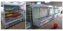 Bakery Service Case Refrigeration System with double side glass