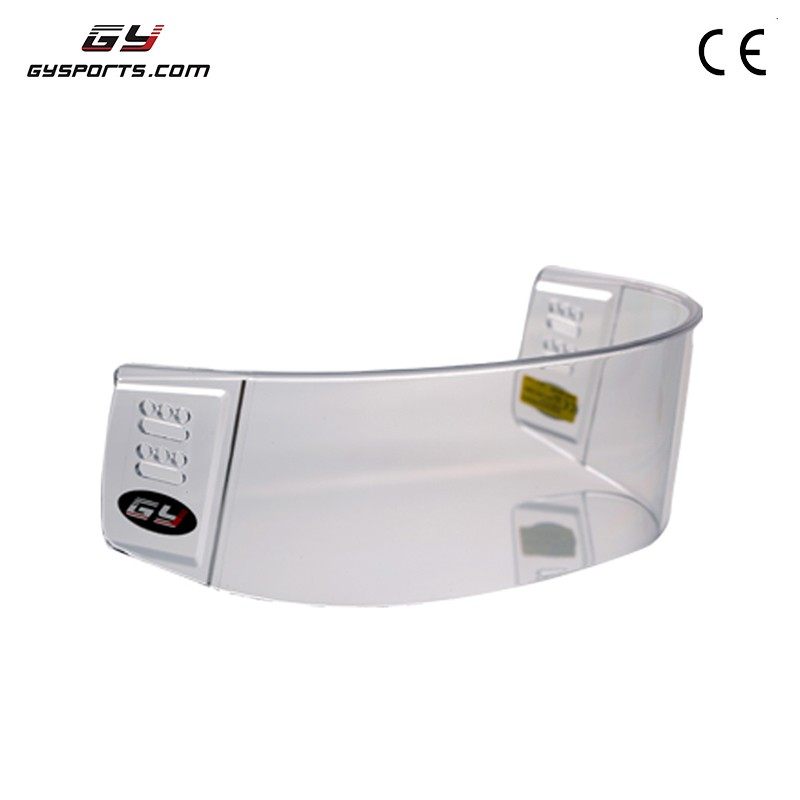 GY Inside Anti-fog Outside Anti-scratch The Fashion Design Strong And Durable Polycarbonate Perfect Polishing Hockey Visor