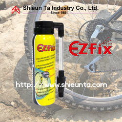 Anti puncture tire sealant and inflator for bicycle