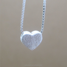 Best Selling Heart Wire Drawing Wedding Gift Polishing Necklaces Fashion Jewelry Wholesale