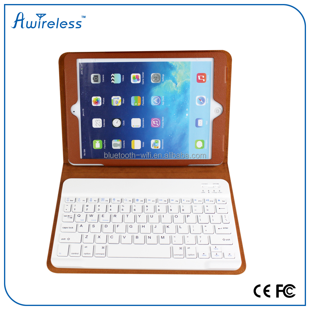 Hot sale cheap leather case 9.7 tablet pc wireless bluetooth keyboard for iPad 6