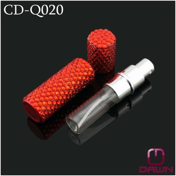 Glass Perfume Bottle with diamonds cover CD-Q020