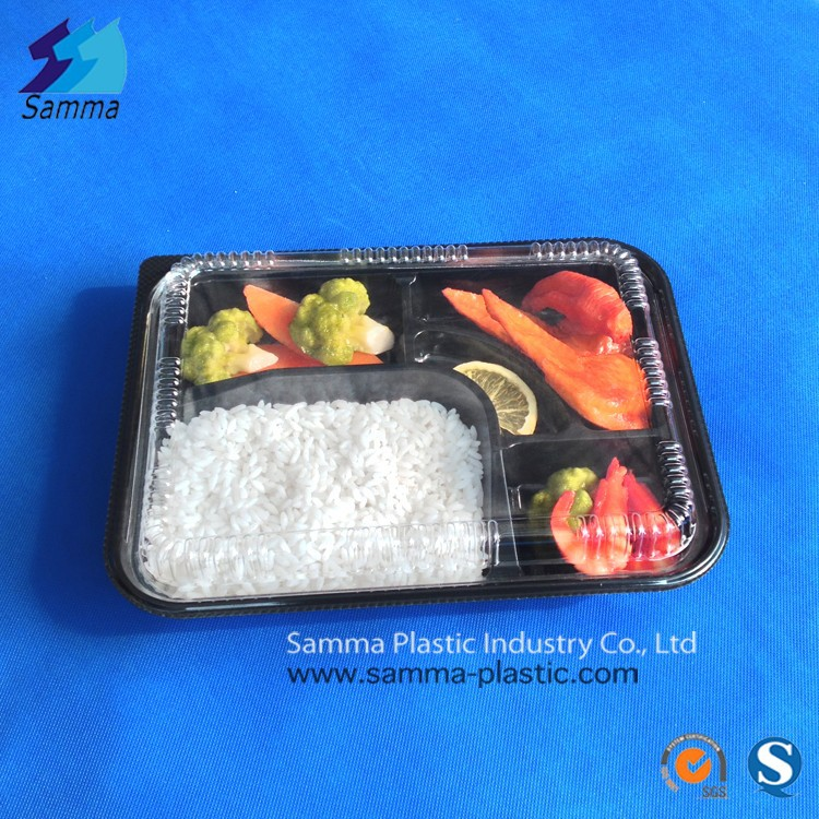 Black Plastic Disposable Bento Box