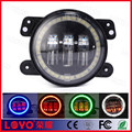 "Newest factory 4"" round halo ring led fog light 4 inch 30W car fog light for jeep"