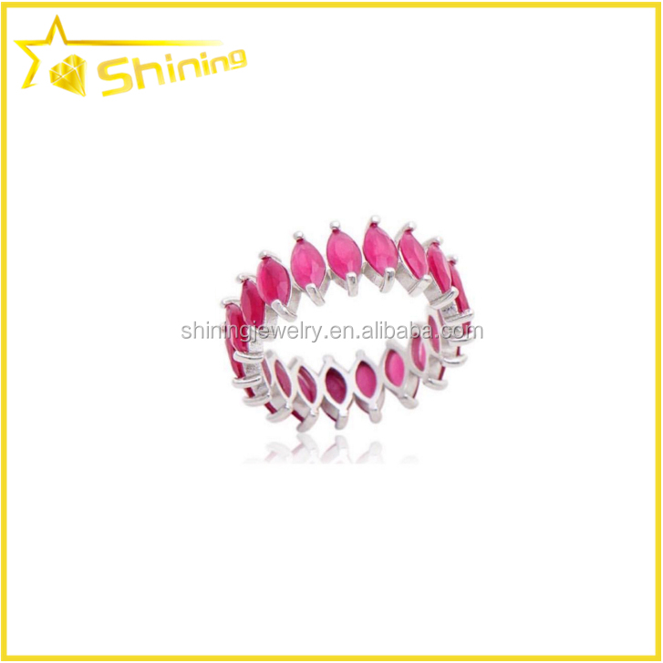 best quality competitive price environmently plating marquise cut matte ruby stone ring