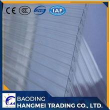 Bayer raw material 16mm cheap x type triple wall polycarbonate pc hollow sheet