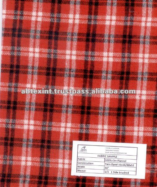 Best Selling Yarn Dyed Plaid Fabric Wholesale Flannel Fabric