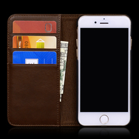 Vintage folio leather case for iphone 7 card holder wallet phone case