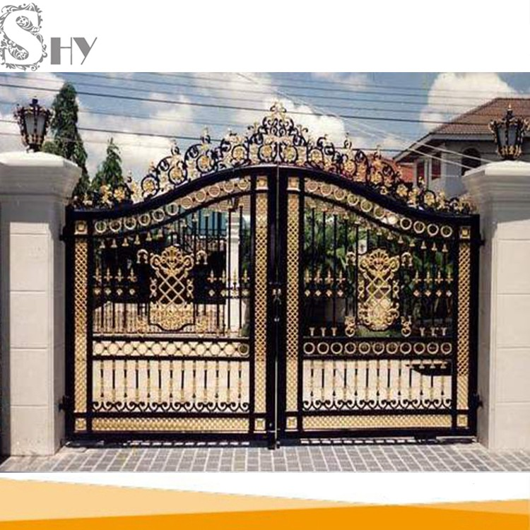Decorative house villa iron gate for sale buy iron gate for Decoration gate