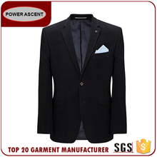2017 Fashion Style Custom Black Blazer Men Suit Made In China