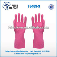 cheap price high quality beautiful color household rubber gloves