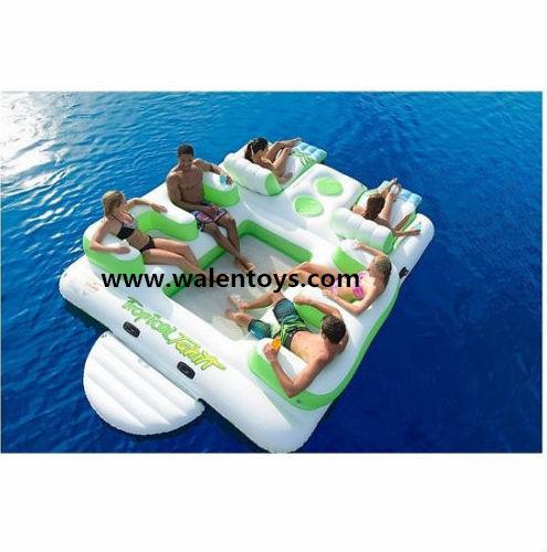 6 persone isola galleggiante gonfiabile piscina sedia lago for Isola gonfiabile piscina