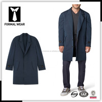 High quality new design blue custom made mens trench coat