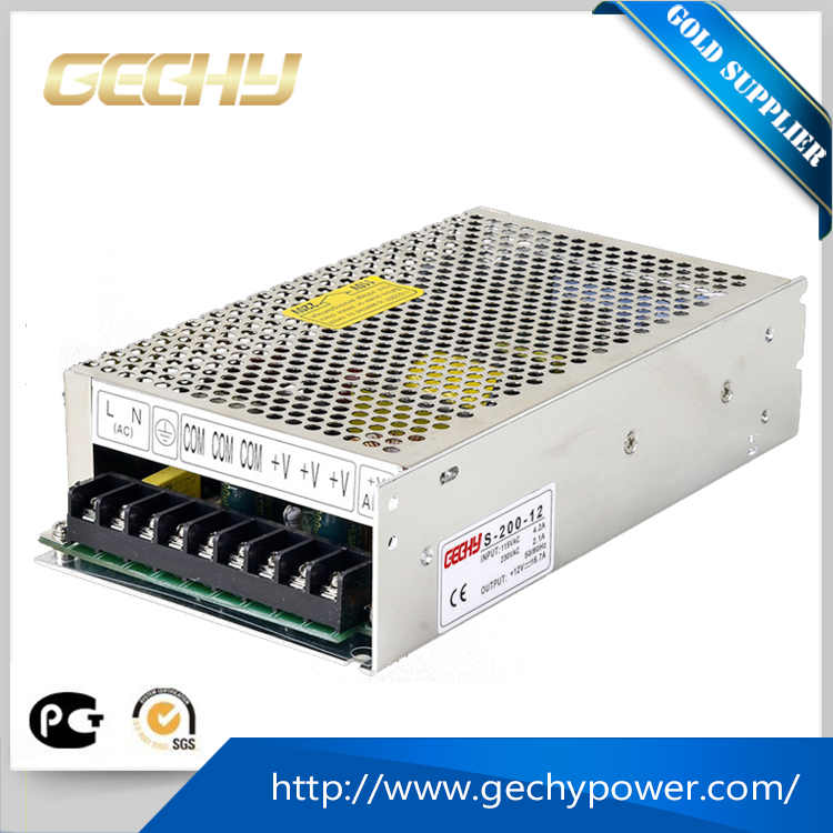 Metal case single output voltage power supply ac 110v to dc 24v 5a 200w led driver