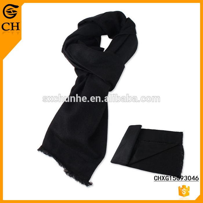 hot sell Plain Black cheap promotional Scarf