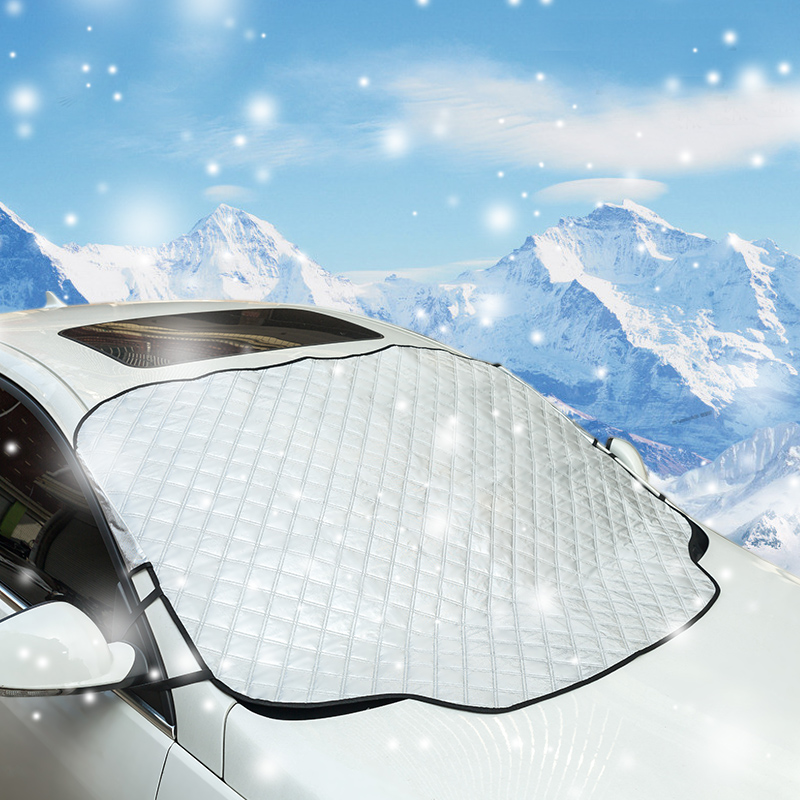 Car Sunshade Window Screen Cover Windshield Snow Cover with Magnetic Edges and Cartoon Styles