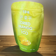 Resealable stand up dry fruit packaging bag with zipper