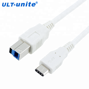 USB 3.1 Type C Male To USB 3.0 Standard Type B Male Data Cable