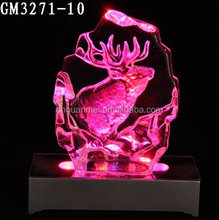 Animal Theme Iceblock Glass Souvenir Artificial Ice Block