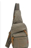 Men's Canvas Cross Body Chest Pack Hiking Cycling Bicycle Bag