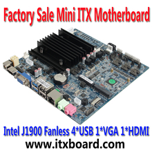 Intel J1900 Quad Core embedded Fanless LVDS mini itx motherboard