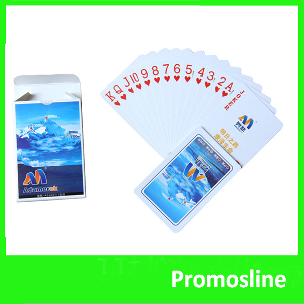 Hot Sell custom promotion playing cards with company logo