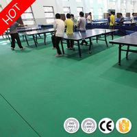 Temperature resistance sturdiness anti-slip indoor pvc sports flooring for table tennis with ce/iso