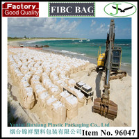 Virgin polypropylene woven pp jumbo sand bag used in dike and abrasion