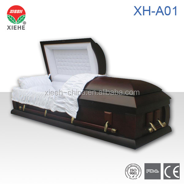 American Style Wood Funeral Coffin XH-A01