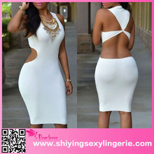 images of sexy nighty White Daring Back Midi Dress trendy winter clothing