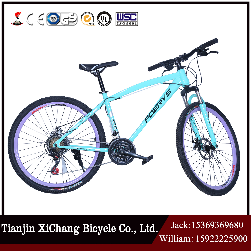 "CHINA TIANJIN XICHNAG 2016 low price 24"" 21 speed aluminium alloy mountain bike"