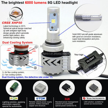 Factory super bright CR XHP50 chips 70W 6000LM high power led headlight 9005,9006,H7,H8,H11,9012 car led headlights from U-LIGHT