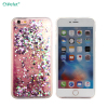 Free Sample Crystal Clear Glitter Heart TPU Liquid Mobile Phone Case For iPhone 6/s