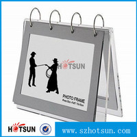 free standing acrylic desk calendar with ring binder