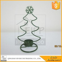 Christmas Tree Design Small Metal Candle Holder